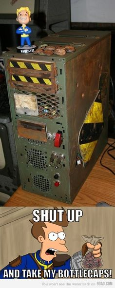 Fallout Computer Case Mod.    Been wanting to do this for a while.......
