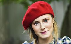 blonde with beret.