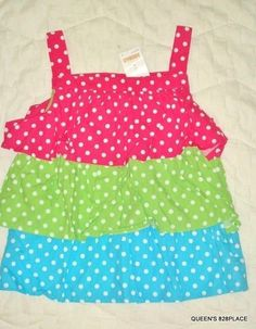 Gymboree All Ruffled Up Blue Polka Dot Pants W/ Pink Ruffles Size 6-12 Mos New Bottoms