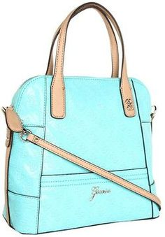 shopstyle.com: GUESS - Reiko Small Dome Satchel (Aqua) - Bags and Luggage
