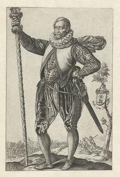 Portrait of a captain by Goltzius, dated 1582.