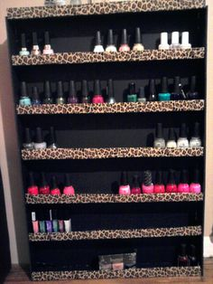 cute diy nail polish rack