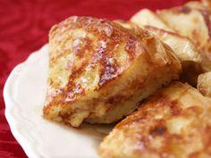 Cinnamon cream cheese stuffed french toast.