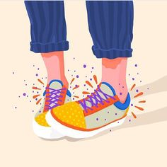 Getting ready for some Friday dancing . . . #petraerikssonstudio #magicshoes #sneakers #dancing #pattern #illustration