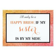#bridesmaid - #Will you be my bridesmaid? card