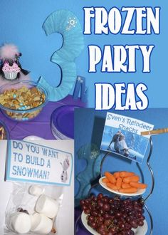 Frozen Birthday Party ideas for toddlers with cute Frozen themed party favors and snack ideas. We have Frozen Fever!
