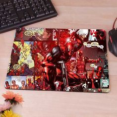 Deadpool Mousepad Mouse Pad pc mac laptop notebook usb hwd Gamer anti slip hwd
