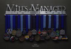 Hogwarts Running Club - Miles Managed Medal Display