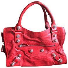 Save on the Balenciaga Giant City Red Lambskin Leather Satchel! This satchel is a top 10 member favorite on Tradesy. Balenciaga Giant City, Pink Balenciaga, Lambskin Leather, Leather Satchel, Red Leather, Happy Shopping, Nyc, Shoulder Bag, Boutique