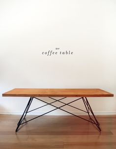 MAKING THIS : DIY METAL BASE COFFEE TABLE - COFFEE TABLE, crafting, DIY, Do-It-Yourself, Home, How-To, Idea, Tutorial