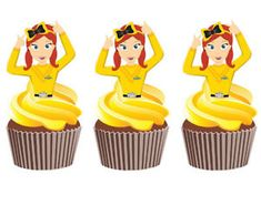 emma wiggle cupcakes - Google Search Image Birthday Cake, 1st Bday Cake, Birthday Cake Toppers, 3rd Birthday, Wiggles Cake, Wiggles Party, The Wiggles, Cupcake In A Cup, Cupcake Cakes