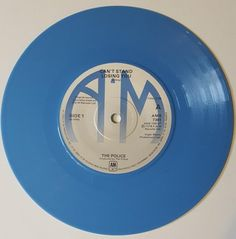 The Police Cant Stand Losing You A M Records Blue Vinyl 45 Rpm Uk 1978 B Side Dead End Job Vinyl Blue Vinyl Dead End Job