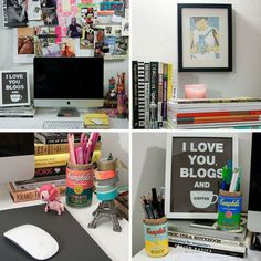 Creating an Inspiring Home Workspace.... Maybe it's just me, but I don't find this inspiring, I find it depressing. Work has been reduced to sitting at a tiny desk in front of a computer for 8 hours a day. Much cushier than, say, harvesting corn, but is this really progress? Personalize and cutsify it all you want, but it's still a monitor in a corner.