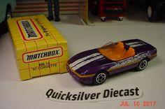 Matchbox 87 Corvette Purple 1995 14 Box