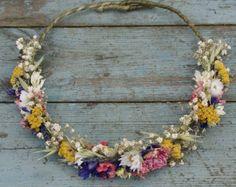 Festival pradera seca flor medio pelo corona