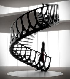 Not your typical spiral staircase, this organic form is a concept by artist and architect Andrew McConnell. The piece, entitled the Vertebrae Staircase, Stairs And Staircase, Take The Stairs, Staircase Design, Staircase Ideas, Stair Design, Spiral Staircases, Grand Staircase, Architectes Zaha Hadid, Architecture Design
