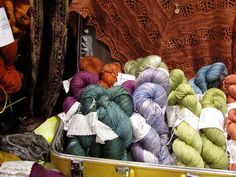 Girl on the Rocks yarn by telaine, via Flickr
