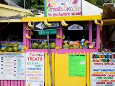 Cruz Bay, St John-- THE best fresh pineapple/coconut smoothie we've ever had.     I MISS IT SO MUCH