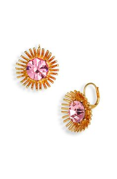 by Betsey Johnson. jewel-burst earrings. so unique and fun