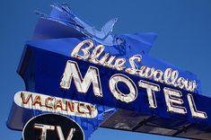 "Route 66 - Blue Swallow Motel, Tucumcari, New Mexico. ""The Fine Art Photography of Frank Romeo."""