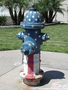 For the bicentennial - 1976 painted fire hydrants!