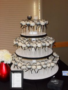wedding cake pops   Wedding Cake Pops   Cake Pops and Cookies
