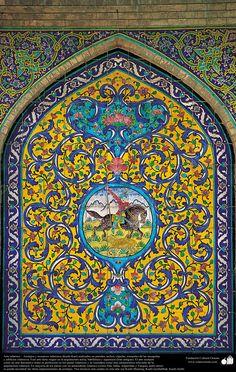 Arte islámico – Azulejos y mosaicos islámicos (Kashi Kari) realizados en paredes, techos, cúpulas, minaretes de las mezquitas - 38 | Galería de Arte Islámico y Fotografía