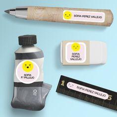 Etiquetas para útiles