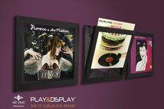Display vinyl records & LPs with these frames. Just change them out when you want to switch up your display!