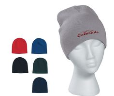 Knit beanie with your embroidered design! amy@eagleeyepromotions.com