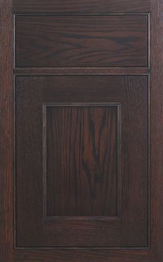 Coronado Recessed door style by #WoodMode, shown in Bistro finish on red oak.
