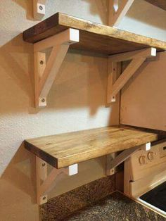 functional advice on quick tricks for Best Outdoor Woodworking Life Easy Shelves, Diy Wood Shelves, Shelving, Diy Wood Projects, Home Projects, Woodworking Projects, Woodworking Plans, Popular Woodworking, Woodworking Patterns