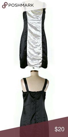 78eee99cf2c Studio Y Satin Black   White Colorblock Dress