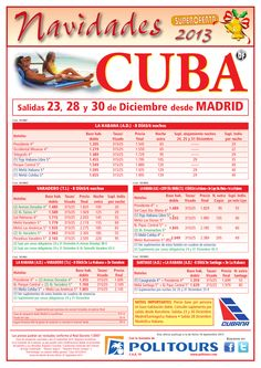 Navidades CUBA: Varadero, salidas 23, 28 y 30/12 desde Madrid (8d/6n) desde 1.485€ ultimo minuto - http://zocotours.com/navidades-cuba-varadero-salidas-23-28-y-3012-desde-madrid-8d6n-desde-1-485e-ultimo-minuto/