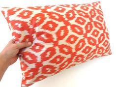Decorative Hand-woven IKAT SILK Pillow Cover