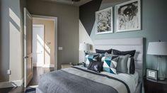 gris perle, taupe, turquoise pâle et anthracite: peinture décorative