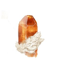 Topaz Crystal, Gemstone Art Print, November Birthstone
