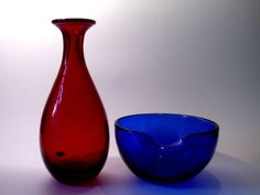 Monica Bratt Red Vase for Reijmyre | Collectors Weekly