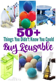 50+ Things You Didn't Know You could Buy Reusable! Check out this ultimate list of reusable products that you can buy to have a more ecofriendly home.  Looking to implement small steps for a greener home, this is it!