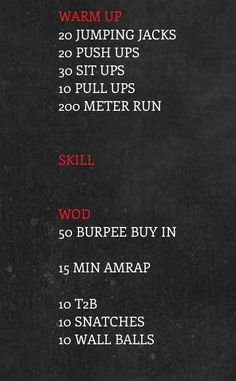 hmmmm I could do all of this at home. But I would probably sub the snatches for…