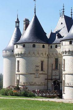 Chateau Chaumont sur Loire. Propriété de la reine Catherine de Médicis puis de Diane de Poitiers, le château connaît au XVIIIème et XIXème siècles une intense période de bouillonnement intellectuel lorsque la famille Le Ray de Chaumont accueille tour à tour le sculpteur Nini, l'Américain Benjamin Franklin et la femme de lettres Germaine de Staël. X
