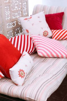 HOLY STRIPE - ARABESQUES & GOD'S PILWE CUSHION COVERS Group picture
