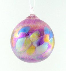 Lilac Ornament  GLASS EYE STUDIO  $26.00   Handblown glass ornament. Made in the USA. 3 1/2 inches