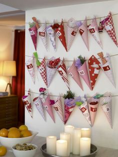 Another advent calendar idea. Use fabric with iron-on interfacing for stiffness?