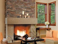 contemporary fireplace surrounds and mantels   Stone Fireplace Surrounds: A Marriage of Modern and Traditional