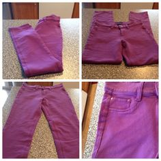 Apostrophe Purple Jeans Beautiful Purple jeans.  Size Small. Comfortable 97% Cotton and 3% Spandex. The Inseam is 30. In Good condition with normal wear. Offers through the offer button ONLY. Non Smoking home. Apostrophe Pants