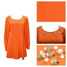cfb80ef6f1c Plus Size Curve Fit and Flare Long Sleeve Round Neck Embellished Blouse SIZE  24  fashion