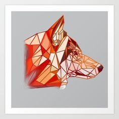Geometric Wolf, Abstract, Artwork, Prints, Summary, Work Of Art, Auguste Rodin Artwork, Artworks, Illustrators