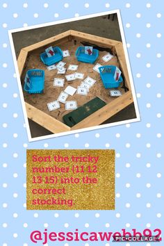 Sort the tricky numbers (12 12 13 15) into the correct Christmas stockings.