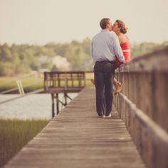 The perfect, coastal Carolina engagement session.  A long dock, marsh views and a Lowcountry breeze = perfection